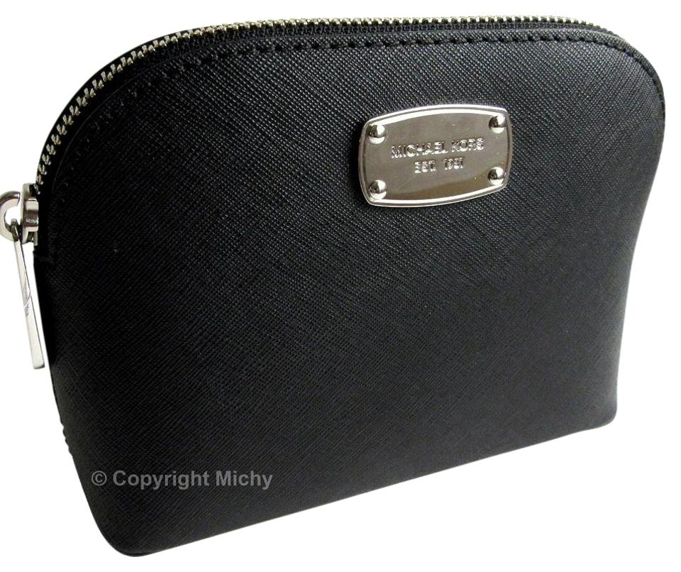147f2c1eec81 Michael Kors Michael Kors Cindy Saffiano Leather Cosmetic Case Travel Pouch  Image 0 ...