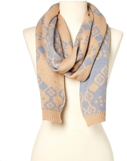 Preload https://item3.tradesy.com/images/jessica-simpson-jessica-simpson-beige-and-blue-geometric-scarf-and-headband-set-1670657-0-0.jpg?width=440&height=440