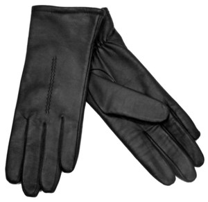 Fownes Fownes Womens Black Leather Driving Gloves Size 7.5