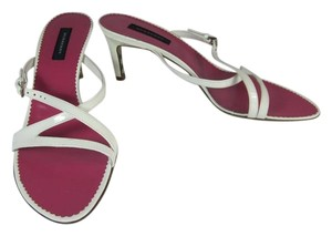 Burberry Leather Heels Nova Check Sandals