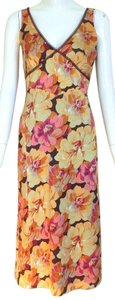 J.Crew Silk Floral V-neck Sleeveless Dress