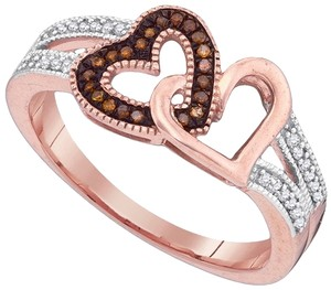 Other DESIGNER 10k WHITE & ROSE GOLD 0.15 CTTW DIAMOND LADIES MICRO PAVE LUXURY FASHION RING by BrianGdesigns