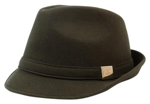 Gucci 322289 Unisex 100% Wool Brown Beige Trilby Hat, L