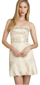 BCBGMAXAZRIA Metalic Gold Dress