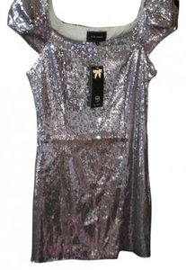 River Island New With Tags Silver Cocktail Vegas Party Short Dress