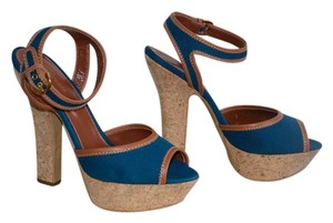 Sergio Rossi Sandal Made In Italy Blue denim Sandals