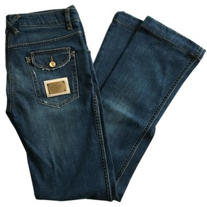 Dolce&Gabbana Distressed Denim Straight Leg Jeans-Medium Wash
