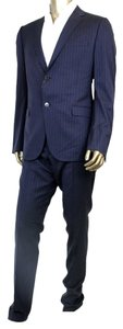 Gucci New Gucci Men's Navy Striped Suits IT 54/US 44 244547 4240