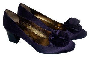 Lanvin Made In Italy Floral Purple Pumps