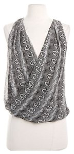 Robert Rodriguez Silk Top Black, white