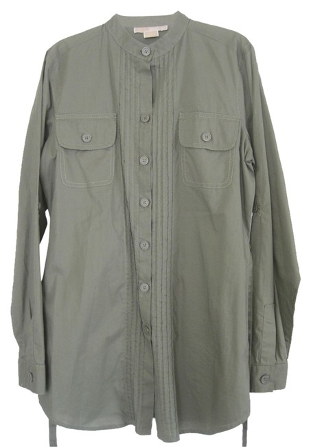 Michael Kors Button Down Shirt Green