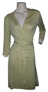 Diane von Furstenberg short dress Yellow Dvf Wrap on Tradesy