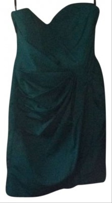 Preload https://item2.tradesy.com/images/green-strapless-wedding-party-ruching-above-knee-cocktail-dress-size-8-m-167081-0-0.jpg?width=400&height=650