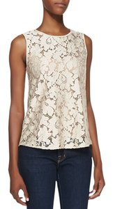 Diane von Furstenberg Lace Dvf Embroidered Tank Blouse Top Blush