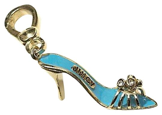 Juicy Couture Boudoir Shoe Slide Charm Blue Gold Charm YJRU0435