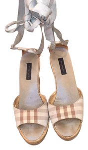 Burberry Baby blue/ Hemp Wedges