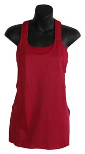 Lululemon bra mesh tank top over raspberry