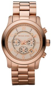 Michael Kors NWOT Chrono Runway Rose Gold-Tone Watch MK8096