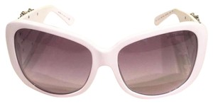 Dolce&Gabbana DOLCE & GABBANA White Sunglasses w/ Crystal Encrusted Stone Arms