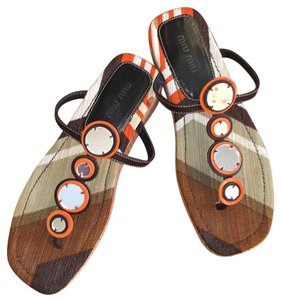 Miu Miu Retro Brown Sandals