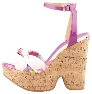 Jimmy Choo Purple Multi Floral Wedges