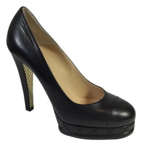 Chanel Platform Black Pumps