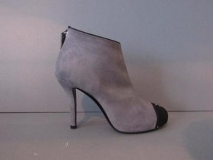 Chanel Grey Suede Short Gray Boots