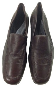 Jil Sander Leather Loafers Brown Flats