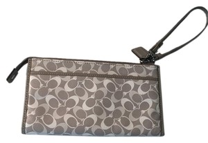 Coach Wristlet in Gray, Purple