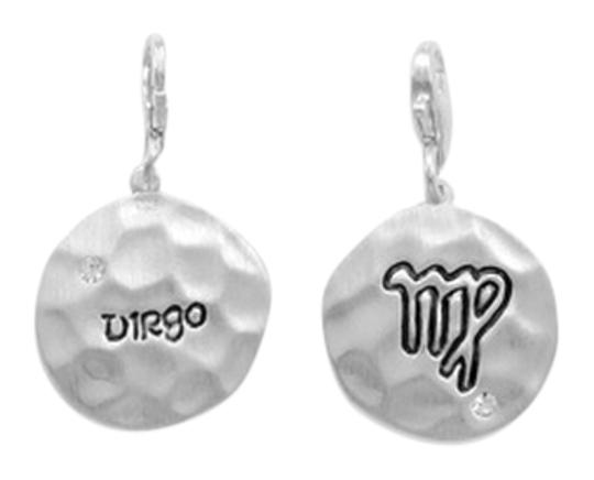 unknown Sterling Silver Reversible Zodiac Charm with Lobster Clasp - Virgo