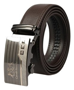 "Cavalli Bianchi Cavalli Bianchi Men's Fashion Belt Made of Genuine Leather with Unique Auto Lock Buckle #5 (46-48"" XL)"
