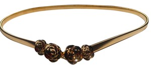Other New Gold Tone Rose Stretch Belt J2963