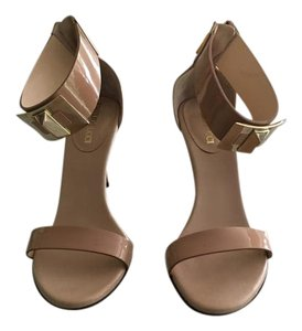 Emilio Pucci nude patent leather Sandals