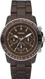 Fossil Fossil Female Dress Watch CH2746 Brown Chronograph
