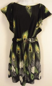 Moon Collection short dress Peacock feather print on Tradesy