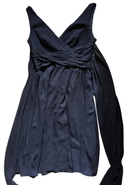 Item - Blue Bridesmaid Watters Special Occasion Knee Length Formal Dress Size 8 (M)
