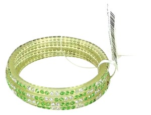 Chamak by Priya Kakkar Chamak by Priya Kakkar Pave Crystal Bangle Bracelets Set of 4 Light Green NWT $55