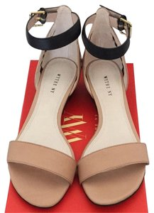 Wythe NY Nude / Black Sandals