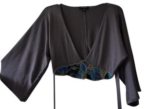 bebe Beaded Batwing Top Purple