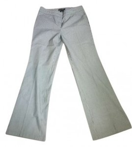 Express Boot Cut Pants Black and White Pinstripe