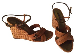 Louis Vuitton Tan Wedges