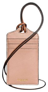 Coach COACH F62603 MADISON ID LANYARD IN LEATHER LIGHT GOLD/ROSE PETAL NEW WITH TAG