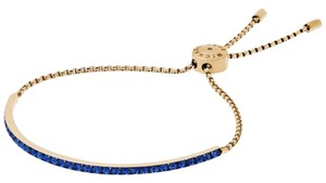 Michael Kors Michael Kors Blue and Gold Slider Bracelet