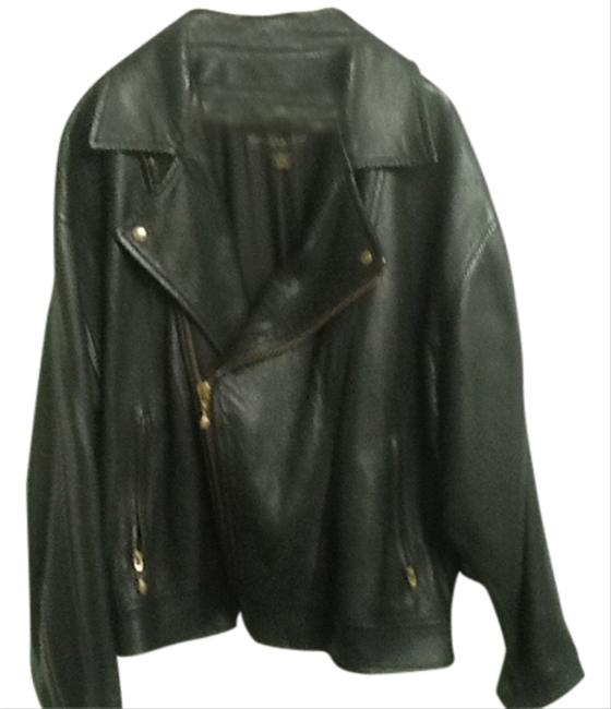 Donna Karan Gold Hardware Motorcycle Jacket
