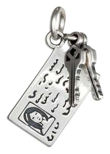 unknown STERLING SILVER CAR KEYS WITH DRIVERS LICENSE CHARM