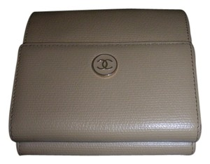 Chanel Chanel Beige Leather Wallet
