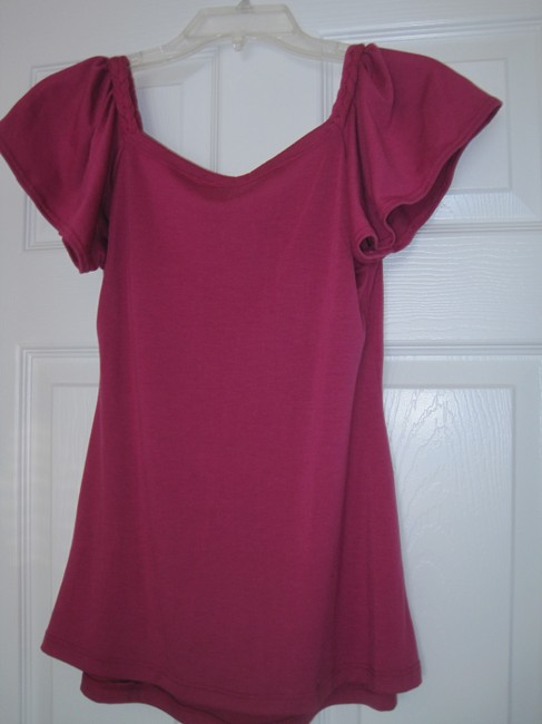 Zoah Design T Shirt Deep Pink/Violet Red