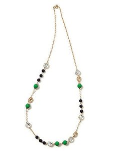 Banana Republic Banana Republic Crystal Bauble Necklace Blue Green
