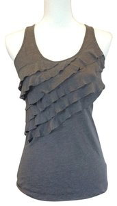 Eyeshadow Ruffle Top Gray