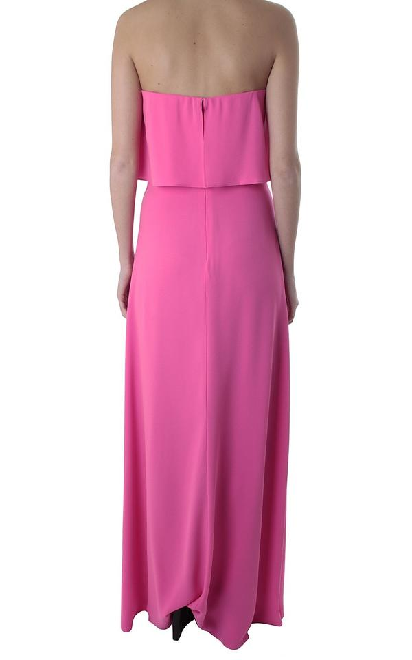 Bcbgmaxazria Neon Pink Alyse Strapless Gown Long Formal Dress Size 6